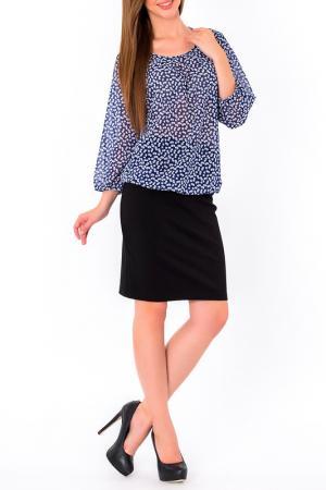 Блуза S&A style. Цвет: сине-белый