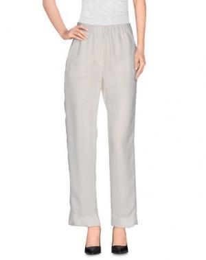 Повседневные брюки NUDE. Цвет: белый