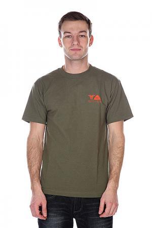 Футболка  Poler X Shirt Army/Orange Fallen. Цвет: зеленый