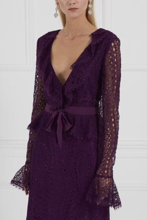 Кружевной жакет Emilio Pucci. Цвет: фиолетовый