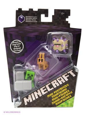 Набор из 3х фигурок персонажей Minecraft MATTEL GAMES. Цвет: фиолетовый, желтый, зеленый