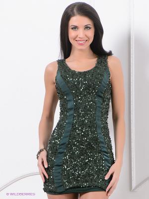Платье ZARGA. Цвет: темно-зеленый