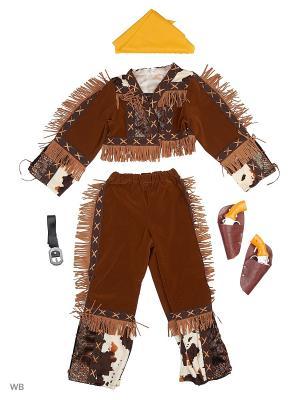 Карнавальный костюм Ковбой Батик. Цвет: коричневый