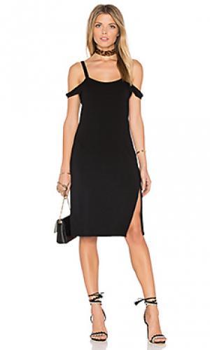 Платье с прорезями на плечах verkler Feel the Piece. Цвет: черный
