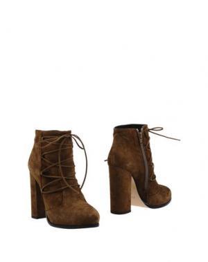 Полусапоги и высокие ботинки GIAMPAOLO VIOZZI. Цвет: хаки