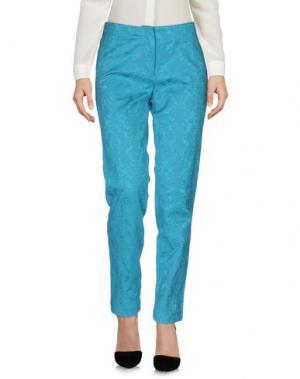 Повседневные брюки GAZEL. Цвет: бирюзовый
