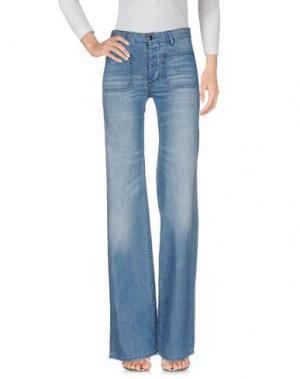 Джинсовые брюки NLST. Цвет: синий
