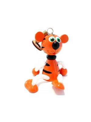 Игрушка подвеска на пружине - Тигр рыжий Taowa. Цвет: оранжевый