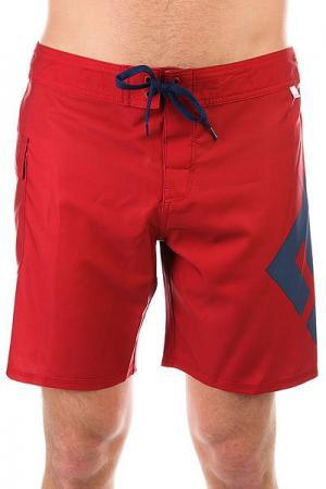Шорты пляжные DC Lanai 18 Chili Pepper Shoes. Цвет: красный,синий