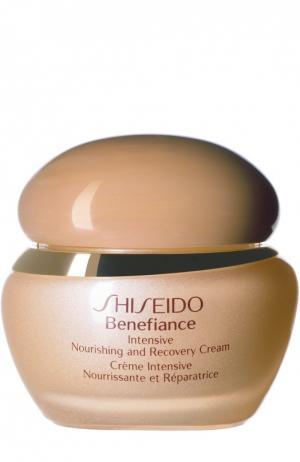 Восстанавливающий питательный крем интенсивного действия Benefiance WrinkleResist24 Shiseido. Цвет: бесцветный