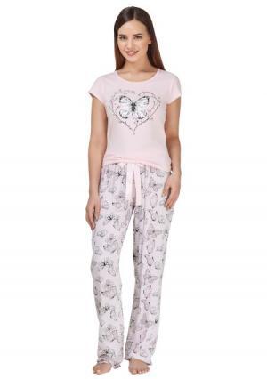 Пижама с брюками Infinity Lingerie. Цвет: разноцветный (цветной)