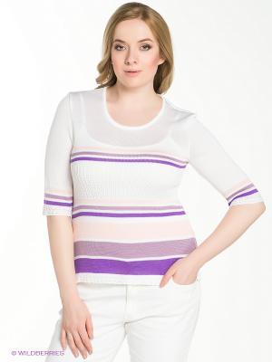 Джемпер VAY. Цвет: белый, фиолетовый