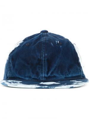 Джинсовая кепка с узором тай-дай Soe. Цвет: синий