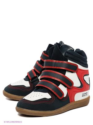 Сникеры King Boots. Цвет: синий, красный, белый