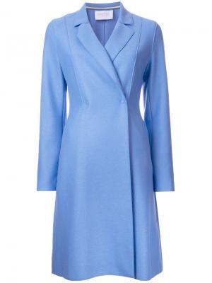 Расклешенное пальто Harris Wharf London. Цвет: синий