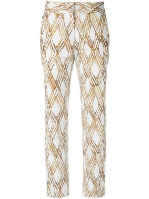 Cropped trousers Andrea Marques. Цвет: телесный