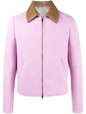 Куртка на молнии Valentino. Цвет: розовый и фиолетовый
