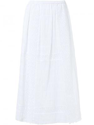 Длинная юбка Thakoon. Цвет: белый