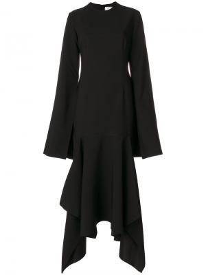 Платье с рукавами клеш Dominique Solace. Цвет: чёрный