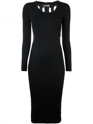 Платье с длинными рукавами Torn Murmur. Цвет: чёрный