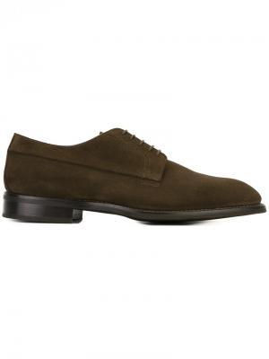 Классические туфли со шнуровкой Canali. Цвет: коричневый