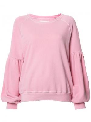 Толстовка свободного кроя The Great. Цвет: розовый и фиолетовый