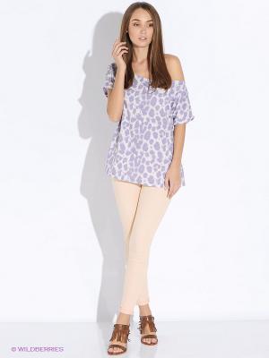 Блузка Up Girl. Цвет: фиолетовый, молочный