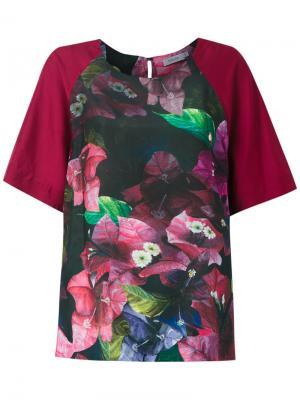 Блузка с цветочным принтом Isolda. Цвет: красный