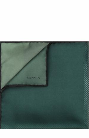 Шелковый платок Lanvin. Цвет: зеленый