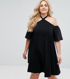 ASOS Curve Летнее платье. Цвет: черный