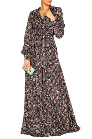 Платье с поясом MARINO MILANO. Цвет: серый