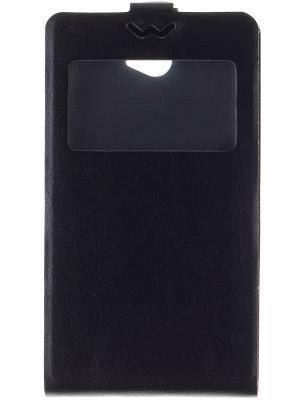 Флип-кейс для Slim AW Sony Xperia E4 SS/DS skinBOX. Цвет: черный