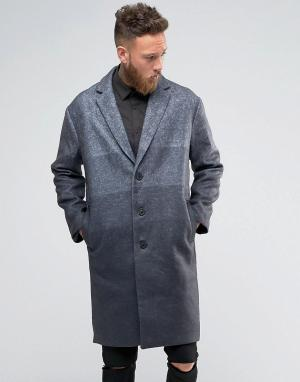 Rogues of London Пальто с градиентной отделкой. Цвет: серый