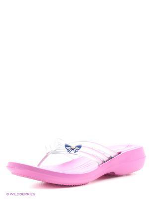 Шлепанцы Дюна. Цвет: розовый, синий