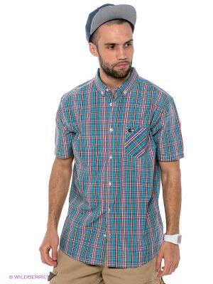 Рубашка PALM S/S SHIRT Rip Curl. Цвет: бордовый, бирюзовый