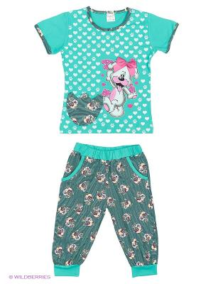 Пижама NICOLETTA. Цвет: зеленый