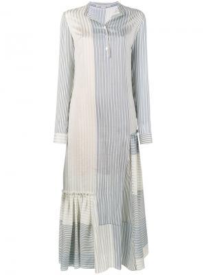 Полосатое платье с длинными рукавами Stella McCartney. Цвет: синий