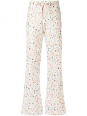 Расклешенные брюки с принтом Olympiah. Цвет: многоцветный