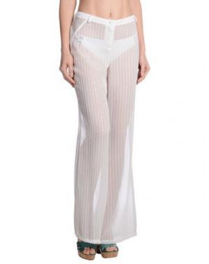 Пляжные брюки и шорты VDP BEACH. Цвет: слоновая кость