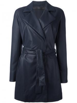 Пальто с поясом Drome. Цвет: синий