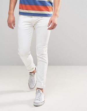 Levis Белые джинсы скинни с оранжевым ярлыком 510. Цвет: белый