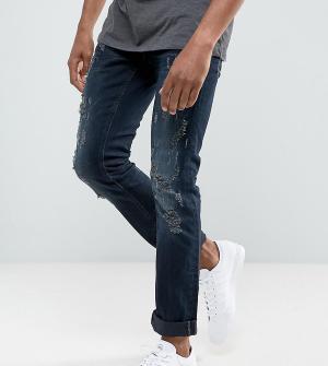 Blend Черные рваные джинсы скинни Cirrus. Цвет: черный
