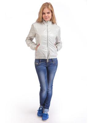 Куртка женская VON DUTCH. Цвет: серый