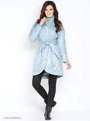 Куртка Анна Чапман. Цвет: светло-серый, голубой
