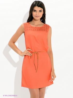 Платье Tommy Hilfiger. Цвет: коралловый