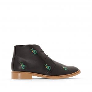 Ботинки-дезерты на шнуровке с цветочным рисунком La Redoute Collections 350045734