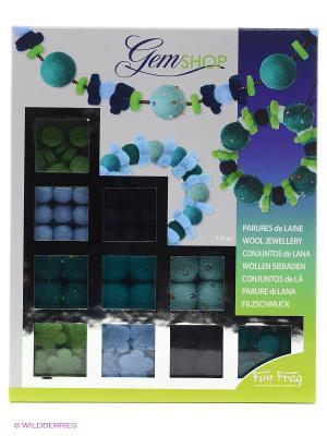 Набор для творчества Украшения из шерсти SENTOSPHERE. Цвет: зеленый, голубой