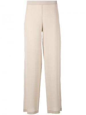 Классические расклешенные брюки D.Exterior. Цвет: телесный