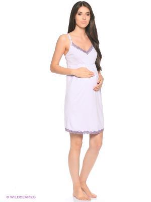 Ночная сорочка для беременных и кормящих FEST. Цвет: сиреневый