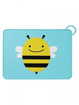 Коврик для столовых приборов Пчела SkipHop. Цвет: черный, голубой, желтый